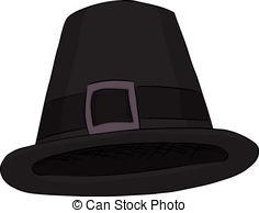 ... Pilgrim Hat - Isolated cartoon of a black pilgrim hat