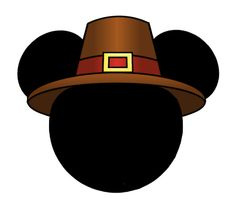 Pilgrim hat mh - 1028x892px.  - Mickey Mouse Thanksgiving Clipart
