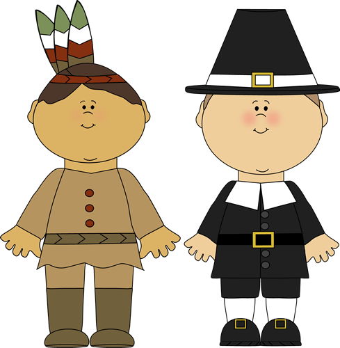 Pilgrims And Indians Clipart  - Indians Clipart