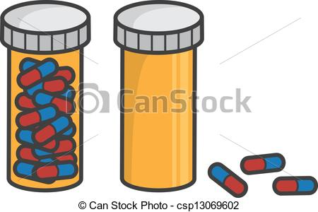 Pill Bottle Full Empty - Isolated Pill B-Pill Bottle Full Empty - Isolated pill bottle full and empty.-14