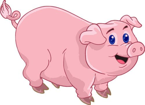 Pin Cute Pig Clip Art Image And Chubby Pink With A Strand Of on .