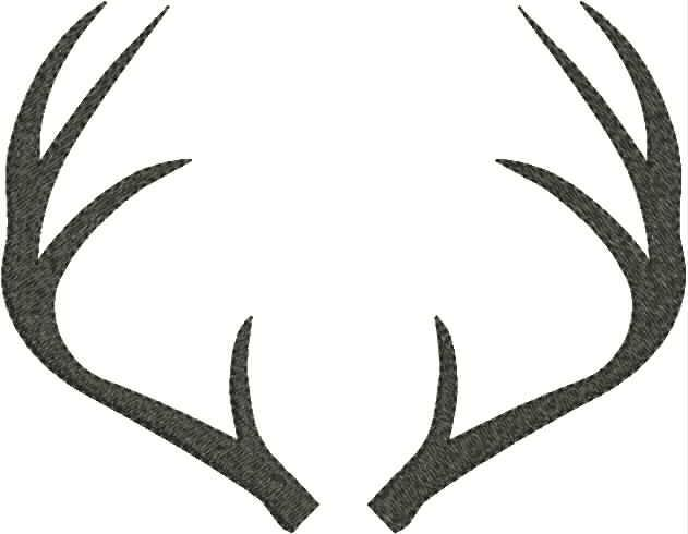 Pin Deer Antler Template on .