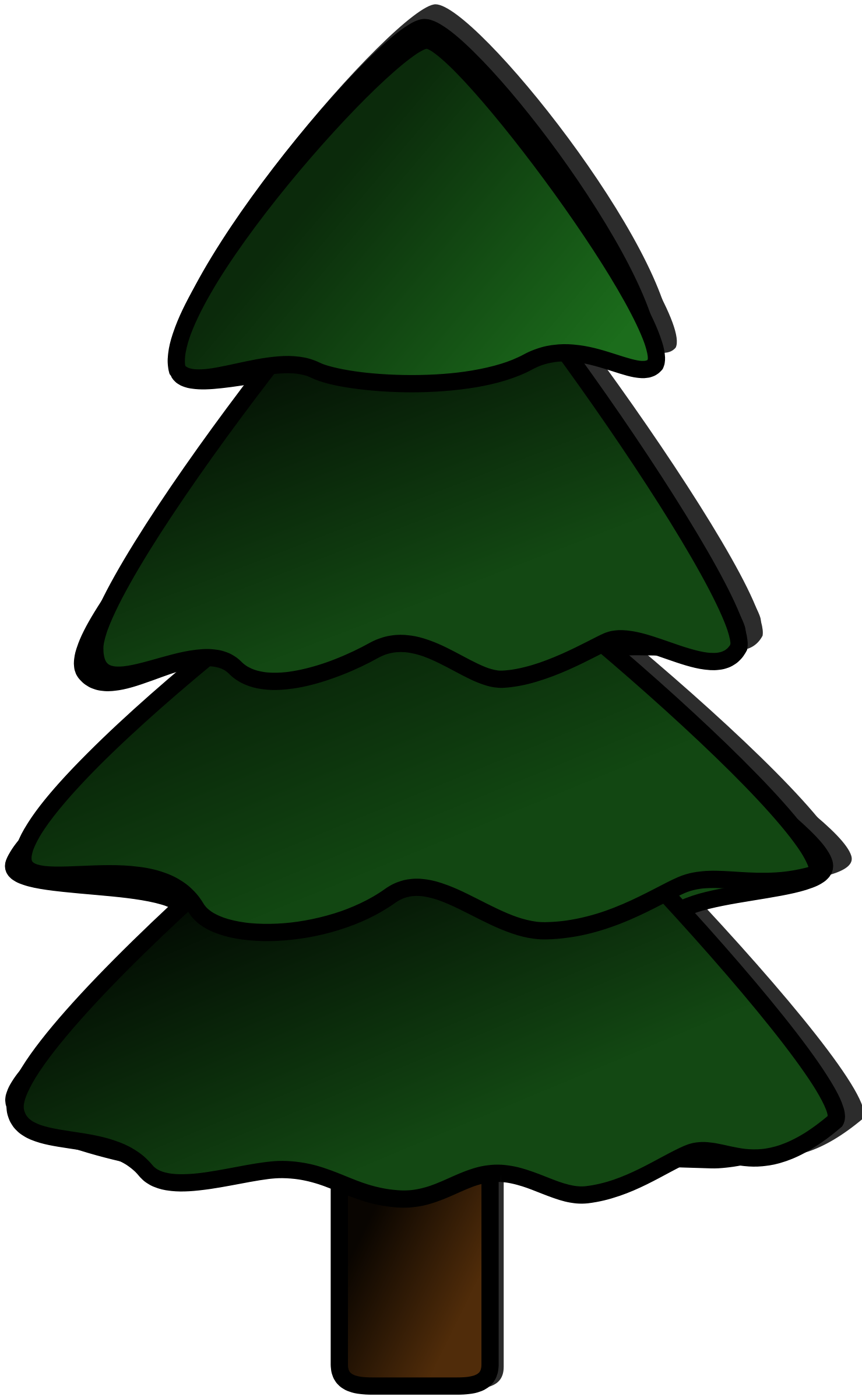 pine tree clipart - Clip Art Pine Tree