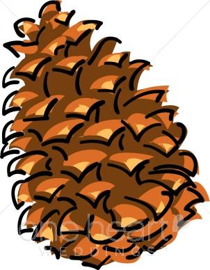 Pine Cone Clipart Winter Wedd - Pine Cone Clipart