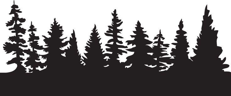 Pine Tree Scene Silhouette-pine tree scene silhouette-6