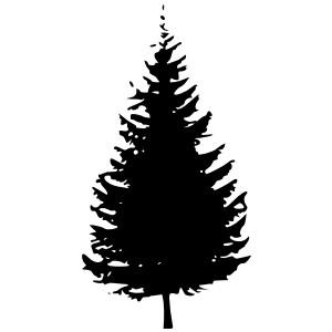 Pine Tree Silhouette Clip Art-Pine Tree Silhouette Clip Art-10