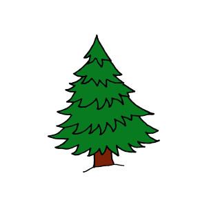 Pine trees clip art vector free clipart images clipartcow
