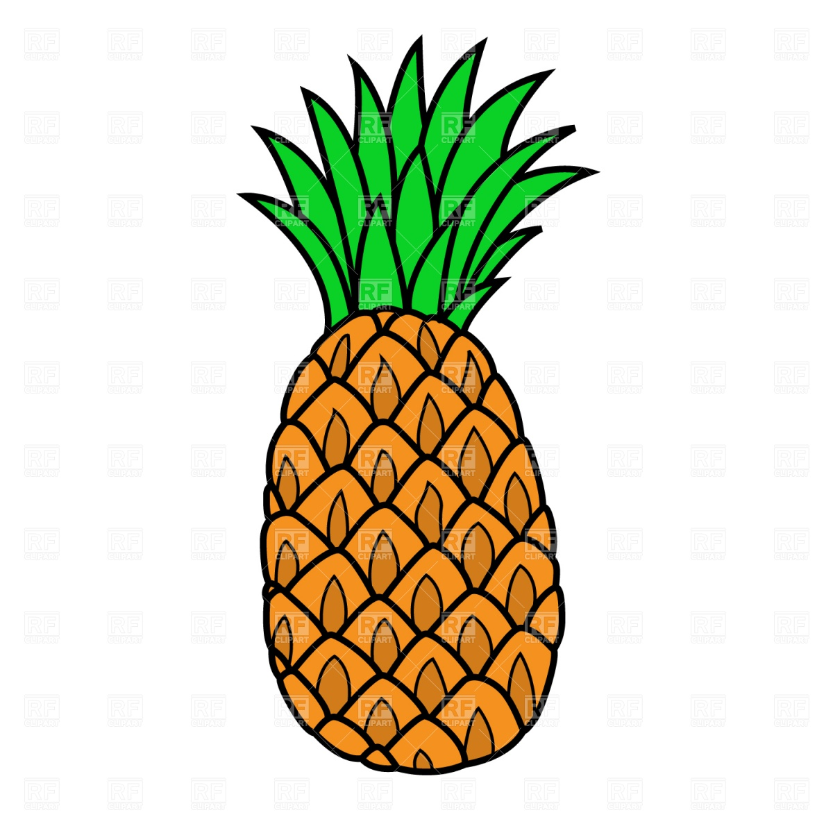 Pineapple Clipart-pineapple clipart-1