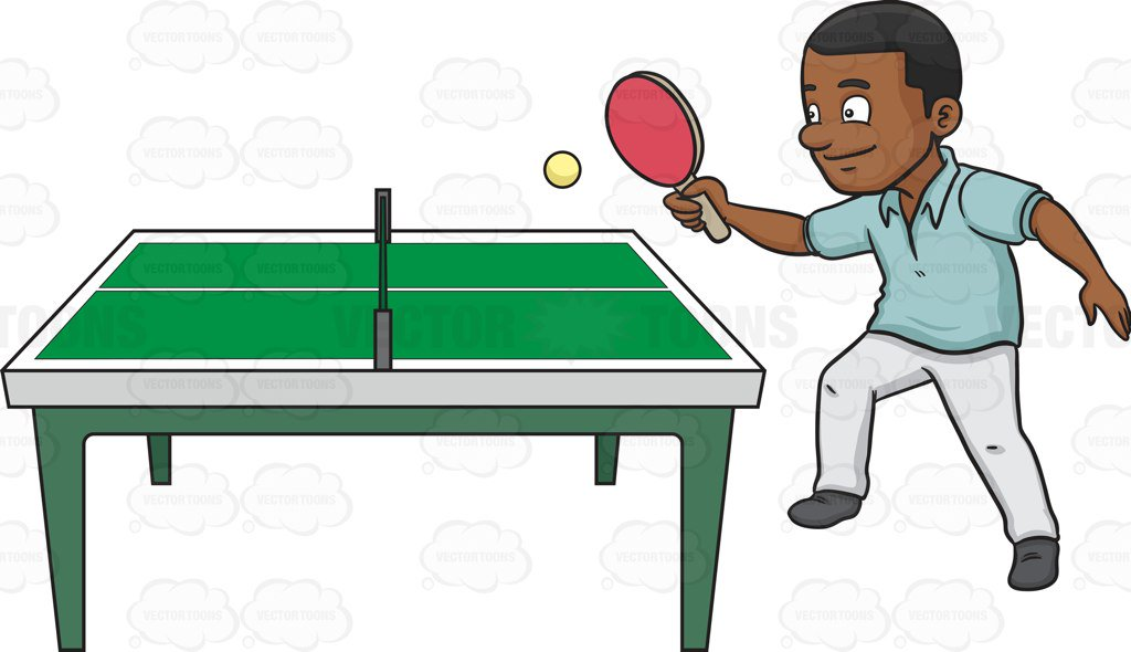 A Black Man Playing Ping Pong-A black man playing ping pong-7