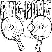 Ping Pong Ball · Ping Pong Sports Sketc-Ping pong ball · Ping pong sports sketch-16