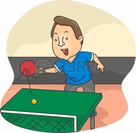 ping pong: Illustration of Male Table Tennis Player in action