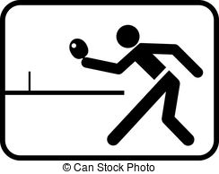 ... ping-pong - pictogram for ping-pong match with abstract... ...