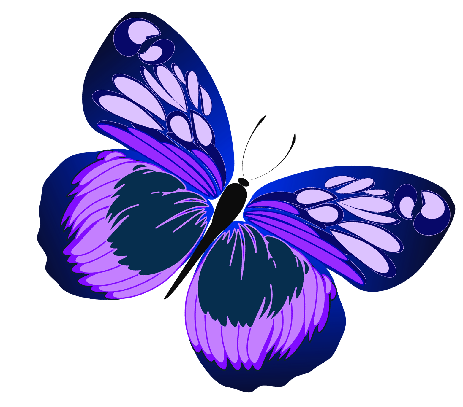 Pink And Purple Butterfly Clipart-pink and purple butterfly clipart-4