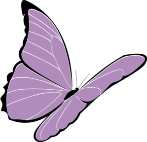 Pink And Purple Butterfly Clipart-pink and purple butterfly clipart-6