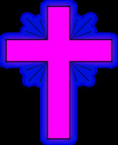 pink cross clipart