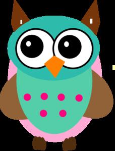 pink girl owl clipart-pink girl owl clipart-13
