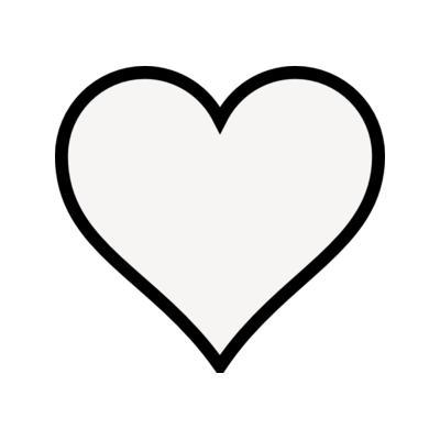 Heart outline. Clip art clipartlook