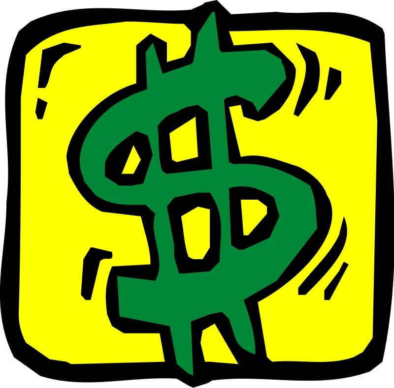 pink money sign clip art