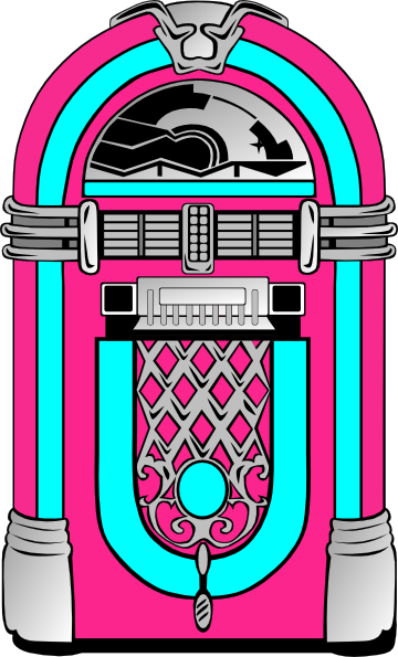 Pink And Blue Jukebox 2 clip art - vector clip art online, royalty .