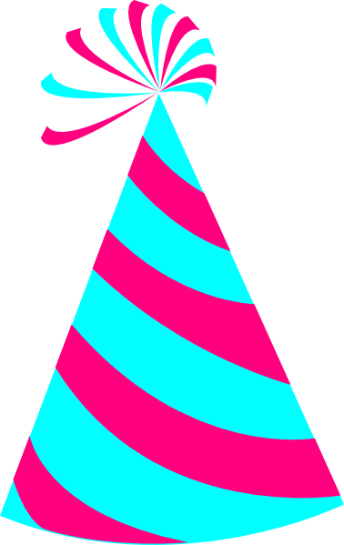Pink And Blue Party Hat Clip Art At Clker Com Vector Clip Art Online