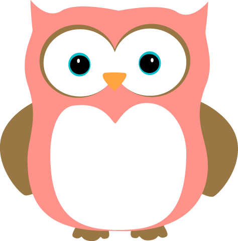 Pink and Brown Owl - Owl Pictures Clip Art