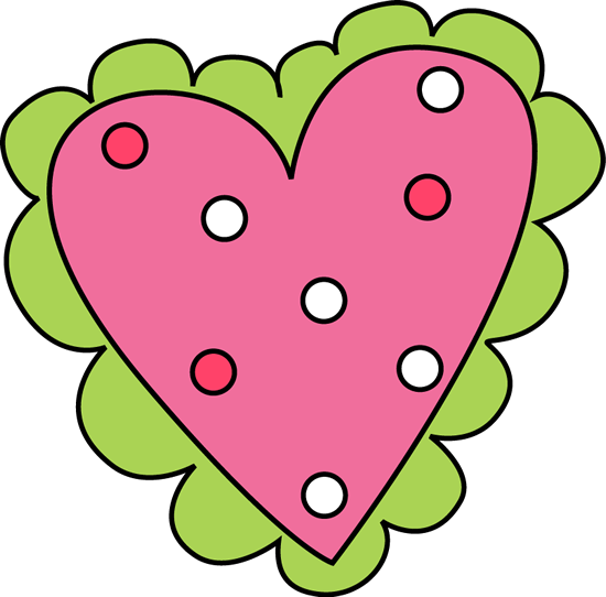 Pink and Green Valentineu0026#39;s Day Heart