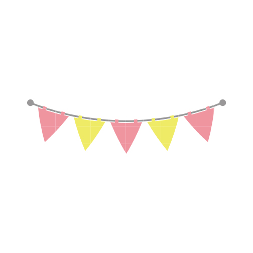 Pink and Yellow Flags Clip Art ..-Pink and Yellow Flags Clip Art ..-9