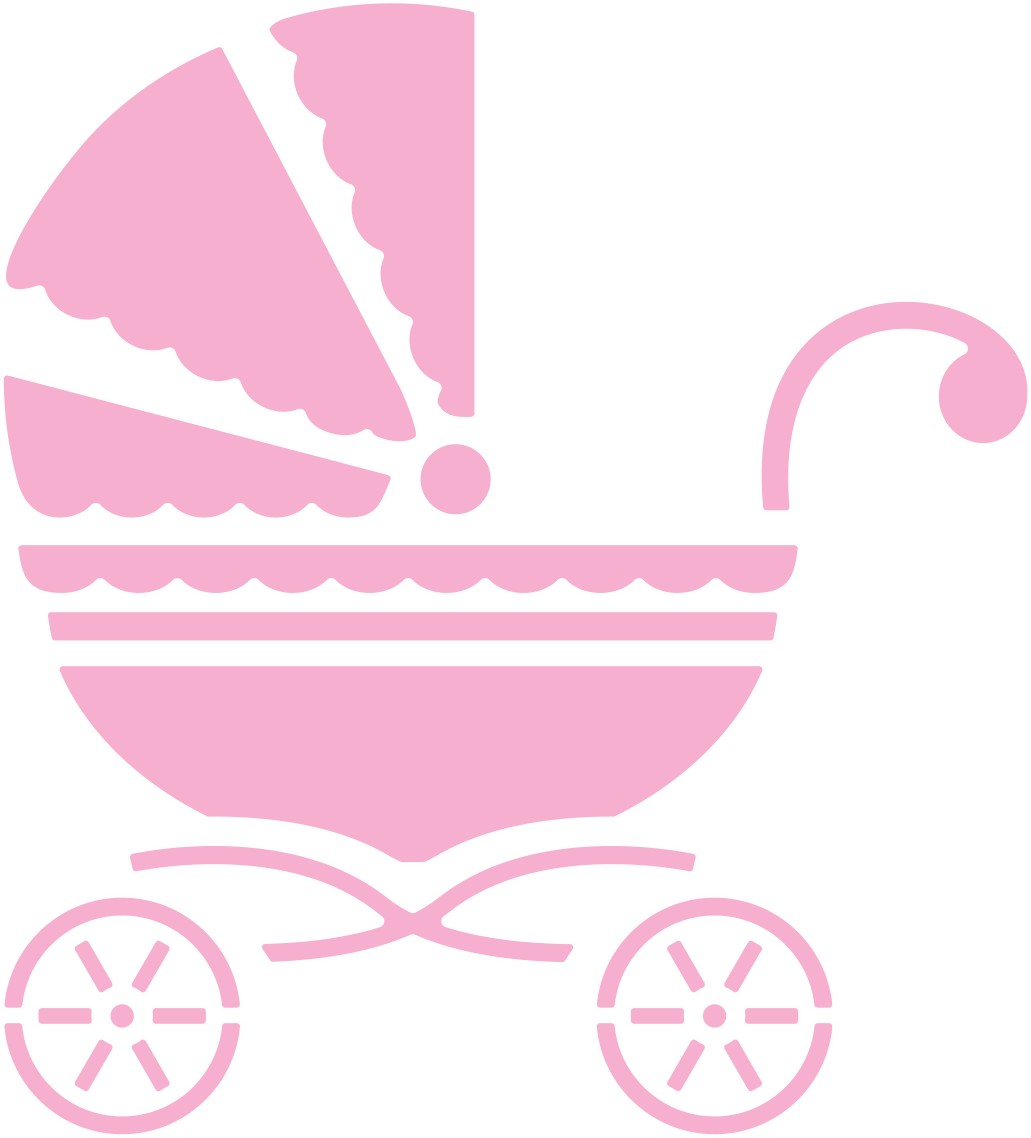 Pink Baby Carriage Clipart Clipart Best