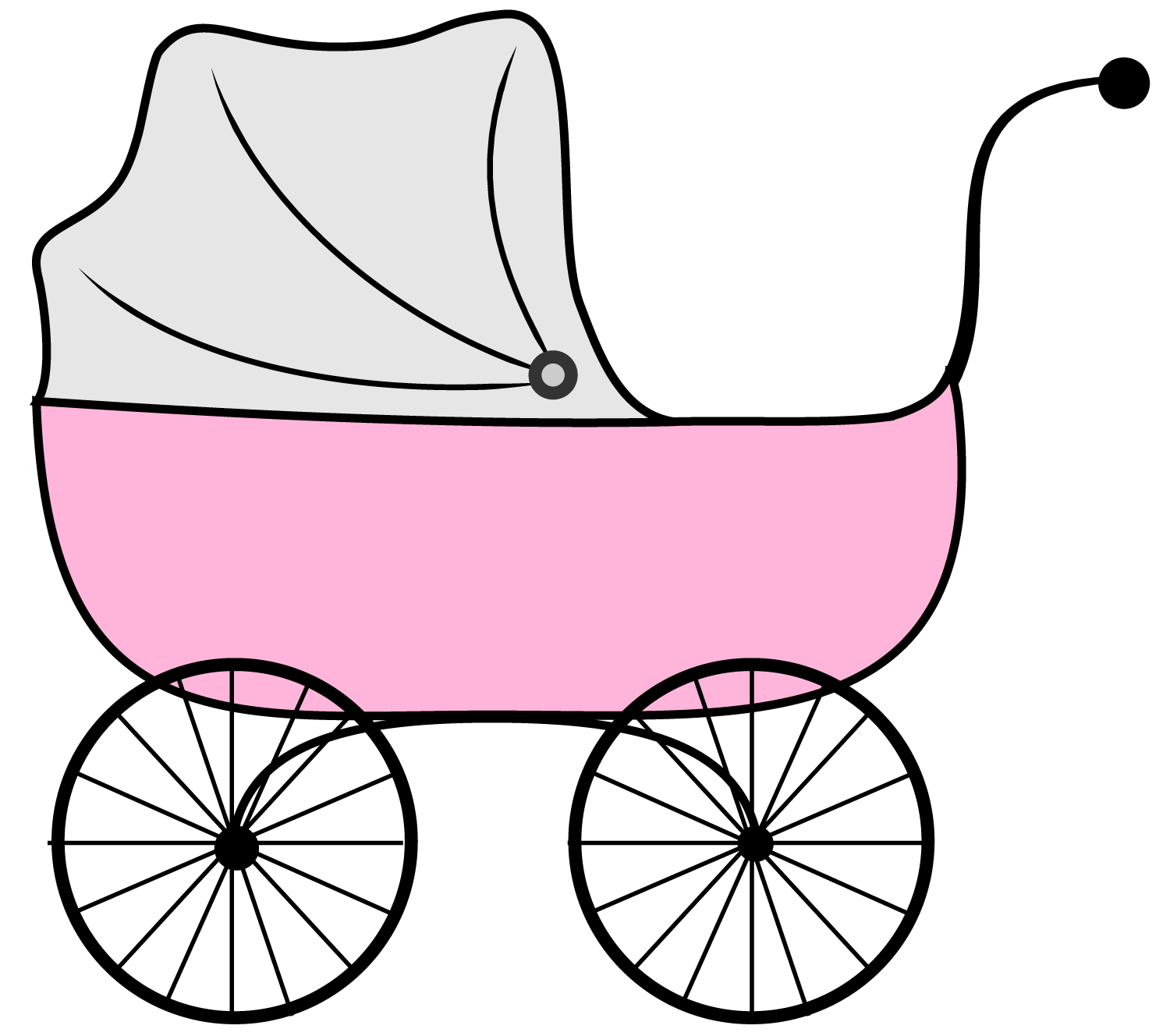 Pink Baby Carriage Clipart - Clipart library