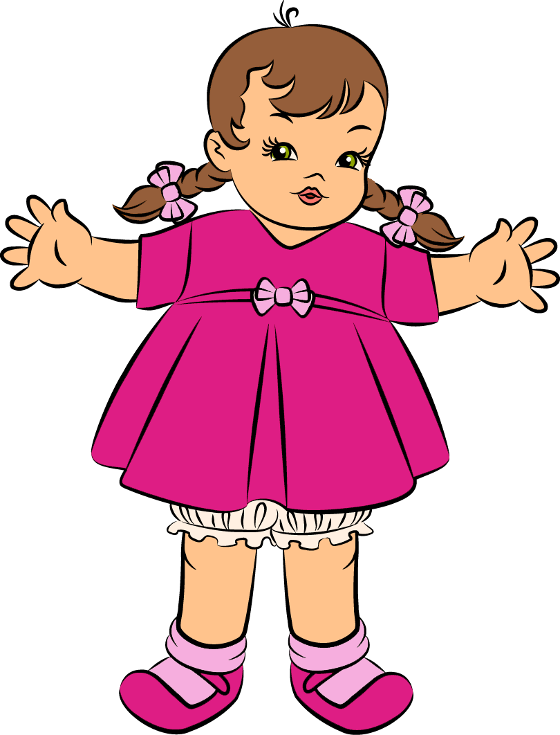 Pink Baby Doll Clipart