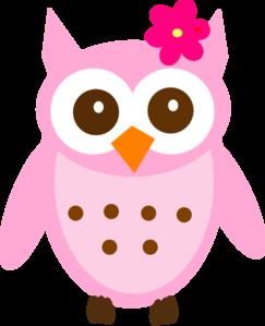 Pink Baby Owl Clip Art .