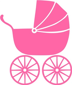 Pink Baby Stroller Clipart