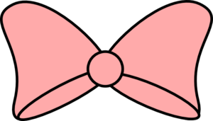 Pink bow black trim clip art at clker vector clip art