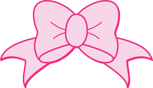 Pink Bow Clip Art At Clker Com Vector Clip Art Online Royalty Free