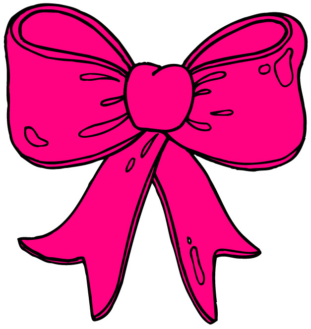 Pink Bow Clipart - Clipart library