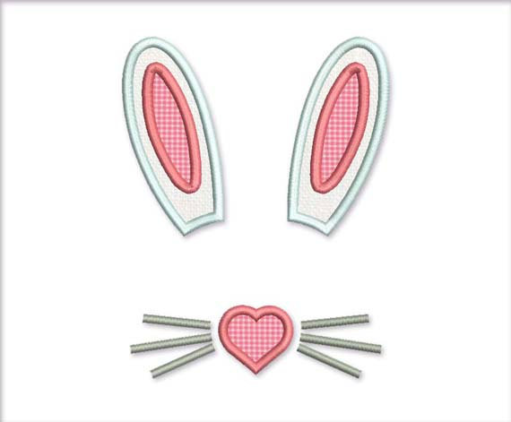 Pink Bunny Ears Clip Art