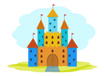 Pink Castle Medieval Clipart Size: 58 Kb