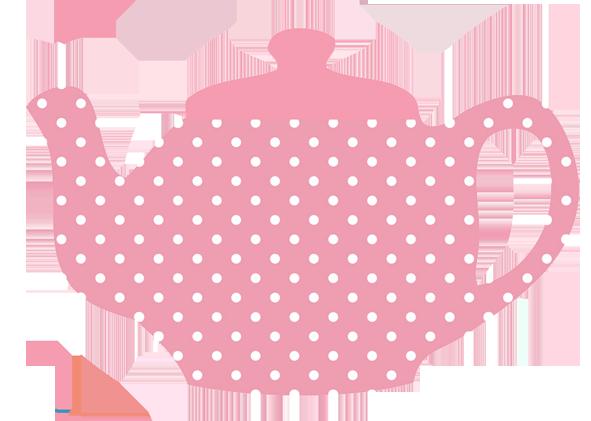 Pink Chocolate Cupcake, Pink Teapot With-pink chocolate cupcake, pink teapot with white dots ...-8