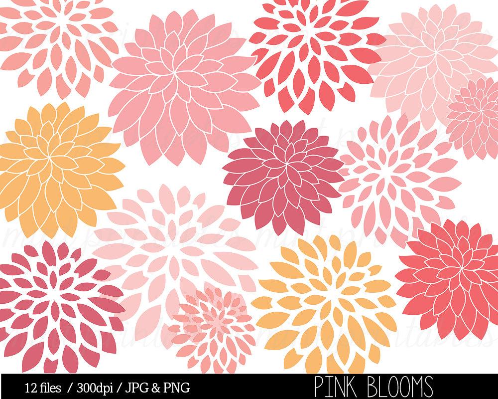 Pink Chrysanthemum Clip Art