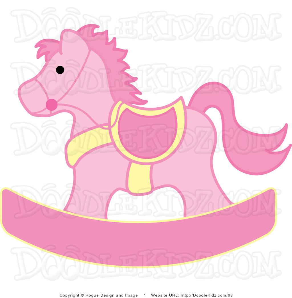 Pink Clip Art - Rocking Horse Clip Art