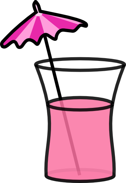 Pink Cocktail Clip Art At Clker Com Vector Clip Art Online Royalty