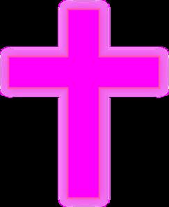 Pink Cross Clip Art