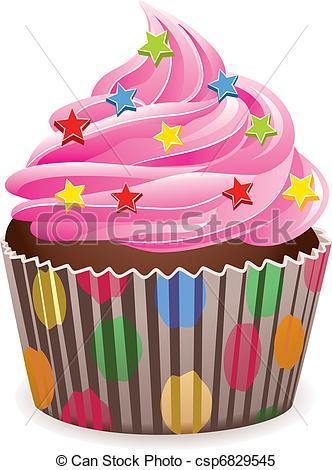 ... pink cupcake - vector pink cupcake w-... pink cupcake - vector pink cupcake with sprinkles-11