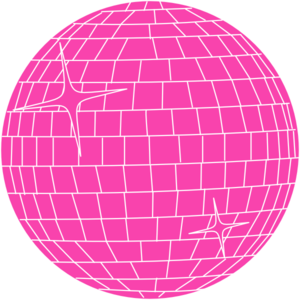 Pink Disco Ball Clip Art