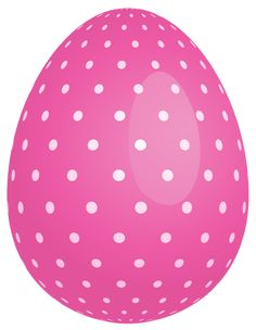 Pink Dotted Easter Egg PNG Clipart