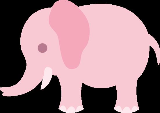 Pink Elephant Clipart #1