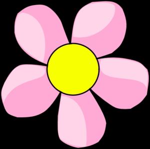 Pink Flower 10 clip art . - Pink Flowers Clipart