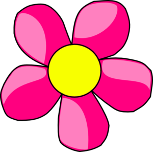 Pink Flower Drawing - ClipArt ... pink flower clipart