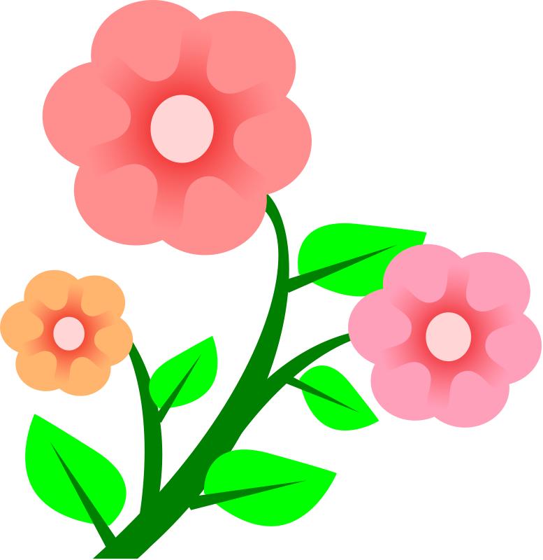 Pink Flowers Spring Flower Divider Clipa-pink flowers spring flower divider clipart-15