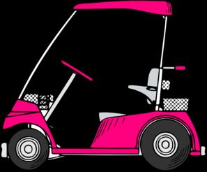 Pink Golf Cart Clip Art